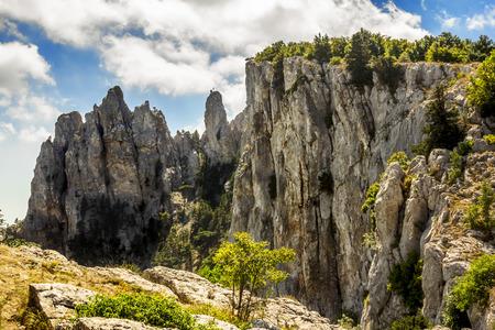fisht: The top of Mount Ai-Petri in Crimea on a bright sunny day