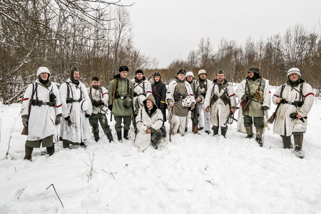 breakout: Russia St. Petersburg. January 25, 2015. military history clubs spend renovating the breakout the siege of Leningrad in World War II