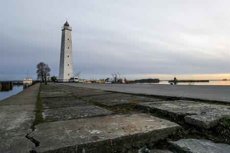 St. Petersburg.Russia. 26 April 2015. views of the Wooden lighthouse at sunset