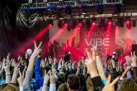 vibe: 01 August 2015.St. Petersburg.Russia.Lenovo vibe fest. Editorial