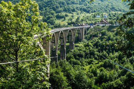 serbia and montenegro: the bridge of Dzhurdzhevich over the Tara River Canyon. Montenegro