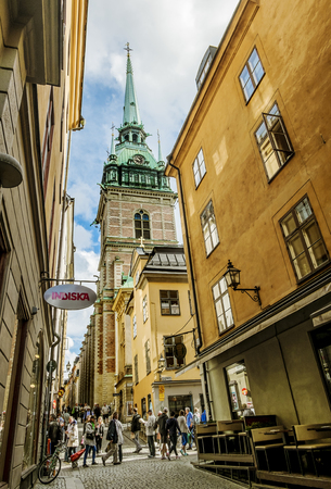 lutheran: September 04, 2015. Stockholm. Evangelical Lutheran German Church in the Old town in Stockholm.Sweden. Editorial