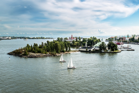 Suomenlinna Maritime fortress on the Islands in the harbour of Helsinki.Finland.