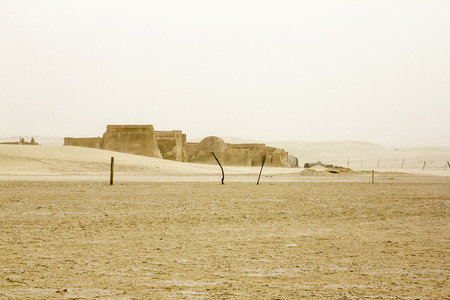 vernacular: May 20, 2013.Sahara.The scenery for the movie Star wars  in the Sahara desert.Tunisia.