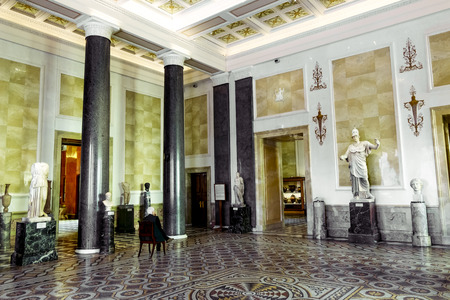 athena: 17 April 2016. Saint-Petersburg. Athena hall in the state Hermitage Museum in Saint Petersburg.Russia. Editorial