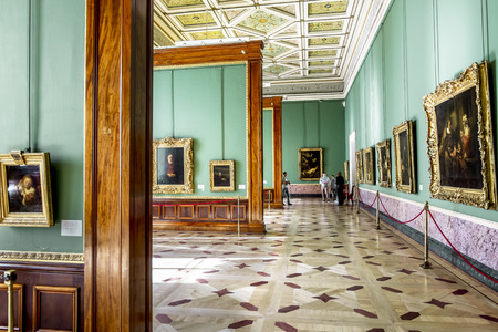 rembrandt: 17 April 2016. Saint-Petersburg.The Rembrandt room in the Hermitage Museum in St. Petersburg.Russia.