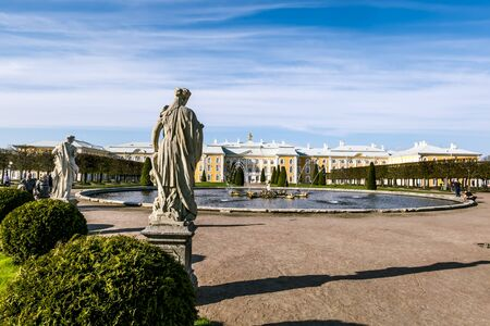 petergof: 09 may 2016.Peterhof.Sculptures in the lower Park of Peterhof.Peterhof.Russia