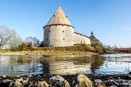 leningradskaya: 02 may 2016. Staraya Ladoga.Medieval fortress in Staraya Ladoga.Russia.