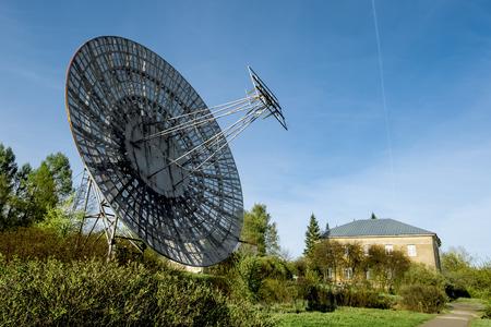 astronomic: May 7, 2016. Saint-Petersburg.Antenna radio telescope of the Pulkovo Observatory in St. Petersburg.Russia.