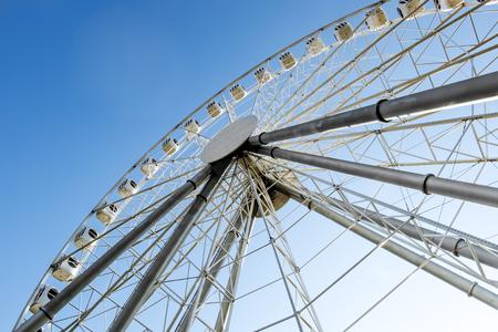 adrenaline rush: May 1, 2016 .Saint-Petersburg.The Ferris wheel at the amusement Park Divo Ostrov in St. Petersburg . Russia.