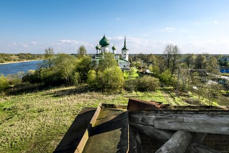forerunner: 02 may 2016. Staraya Ladoga.Church of St. John the Baptist  Nativity on Malysheva Mount in Staraya Ladoga.Russia.
