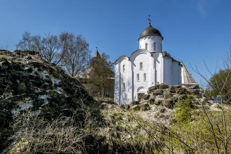 leningradskaya: 02 may 2016. Staraya Ladoga.St. George Church at the fortress in Staraya Ladoga.Russia.