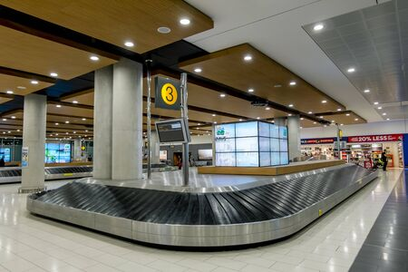 19 may 2016.Larnaca.The Luggage belt in the arrival terminal of the international airport of Larnaca.Cyprus.
