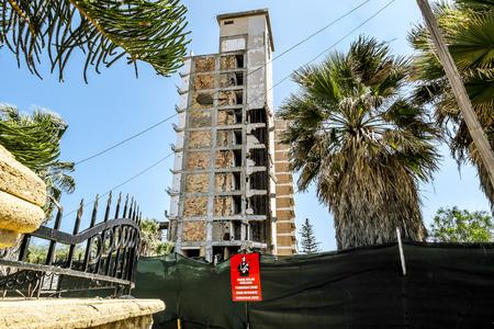 24 maggio, alberghi 2016.Famagusta.Abandoned della fantasma città abbandonata Varosha in Famagusta .Northern Cipro. Archivio Fotografico - 61816519