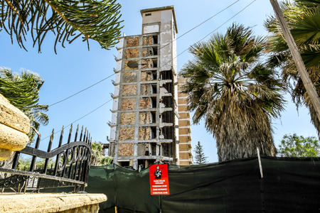 May 24, 2016.Famagusta.Abandoned hotels in the abandoned Ghost city Varosha in Famagusta .Northern Cyprus.