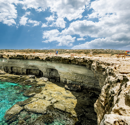 greco: 25 may 2016.Cape Greco. Views of the sea caves and cliffs of Cape Greco . Cyprus. Editorial