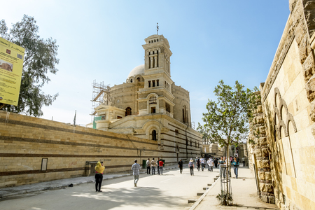 the victorious: 12 april 2014.Cairo .Temple of the Holy great martyr George the victorious in Cairo .Egipt