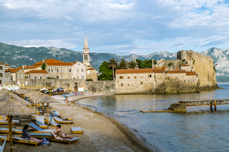 02 june 2015.Budva.Old town of Budva in Montenegro in sunny day at summertime.Montenegro