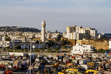 Tunisia.Tunisia.May 25, 2017.Views of the surrounding area and the port of La Gullet in Tunisia