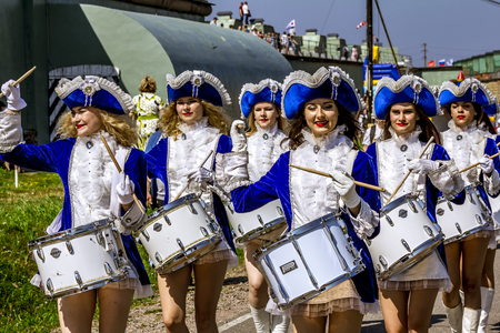 Saint-Petersburg.Russia.29 July 2018.Celebration of the day of Naval forces in Kronstadt at Fort Constantine. Editorial