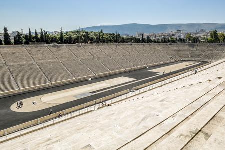 Athens.Greece.May 31, 2019. View of The Panathenaic stadium in Athens. 新聞圖片