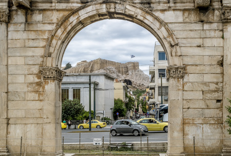 Athens.Greece.May 31, 2019.Hadrians arch in Athens.