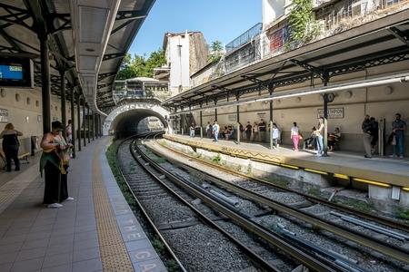Athens.Greece.May 31, 2019.Monastiraki metro station platform in Athens. Editorial
