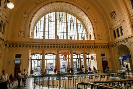 Prague.Czech Republic.August 27, 2019.Interior Of the main railway station in Prague. Archivio Fotografico - 139609084