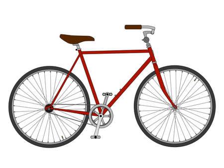 Red bike Stockfoto