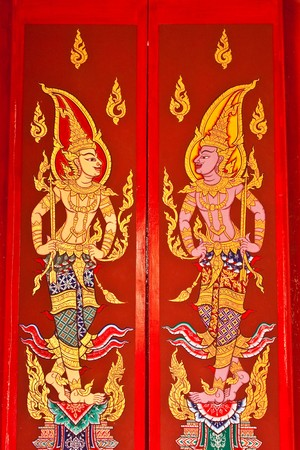 Art of temples window  in Thailand  photo