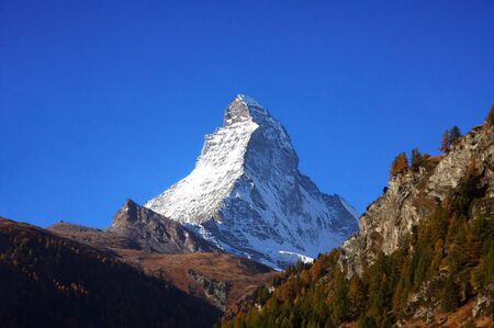 matterhorn: Matterhorn in the afternoon Stock Photo