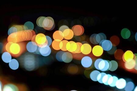 night vision: Abstract bokeh with night vision of city.