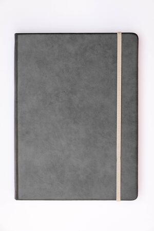 memo pad: Grey cover of notebook with whit background.