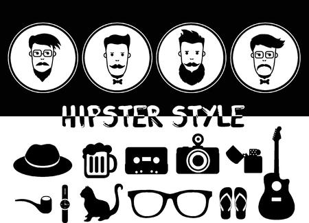 burly: Hipster style Illustration