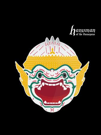 Hanuman warrior, the god of monkey in ramayana Фото со стока - 81913896