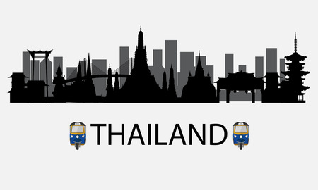 Thailand city Vector illustration.