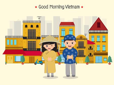 Good morning Vietnam illustration. Stock Vector - 90418018