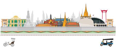 Punkt orientacyjny Tajlandii i podróży w Bangkoku