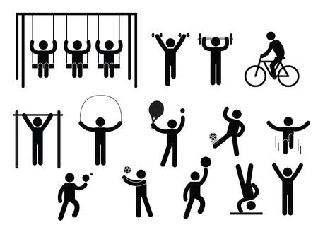 Person Basic Body Language Pictogram, symbol sign pictogram on white - Illustration 일러스트