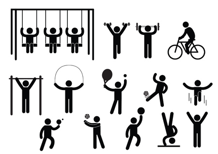 Person Basic Body Language Pictogram, symbol sign pictogram on white - Illustration Illustration