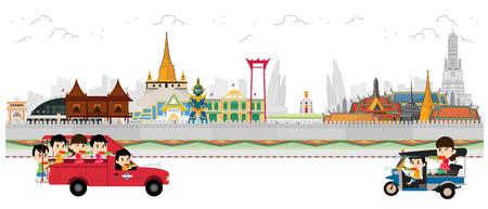 Songkran Festival at Thailand, vector template
