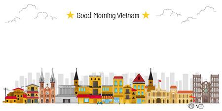 Vietnam landmark and travel place,temple,background
