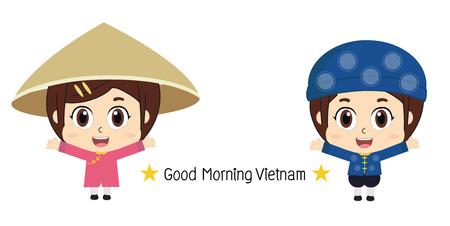 kids in Vietnamese, Vector