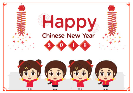 Little kids and Happy Chinese New Year
