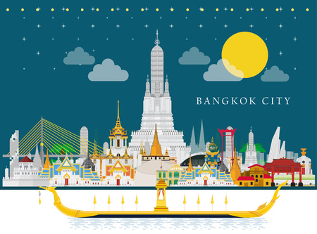 Reise nach Thailand und The Royal Barge Suphannahong on River