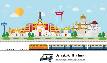 Thailand travel concept. flat style