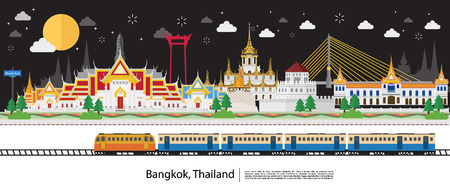 Travel to Thailand at night