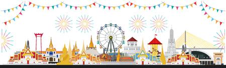 Foire du temple thaïlandais, Thaïlande avec attractions