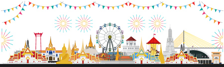 Thai Temple Fair, Thailand with attractions
