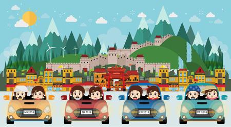 kids drive to china world